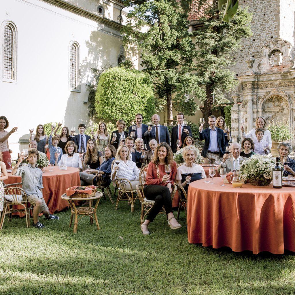 La famiglia Frescobaldi al completo