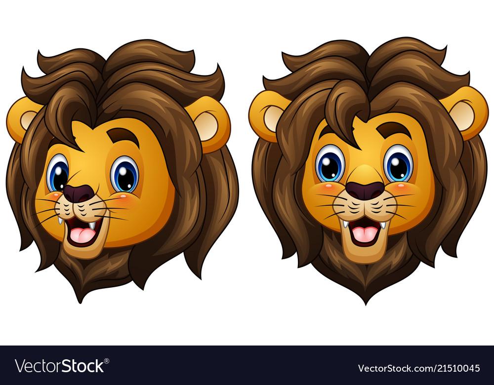 cartoon lion faces