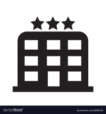 3 Star Hotel Icon Design Royalty Free Vector