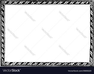 Leaf border a full page border with simple leaves Vector Image