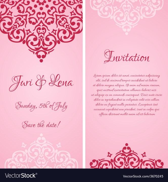 Baroque Damask Wedding Invitation