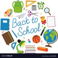 Back to school circle with school supplies Vector Image