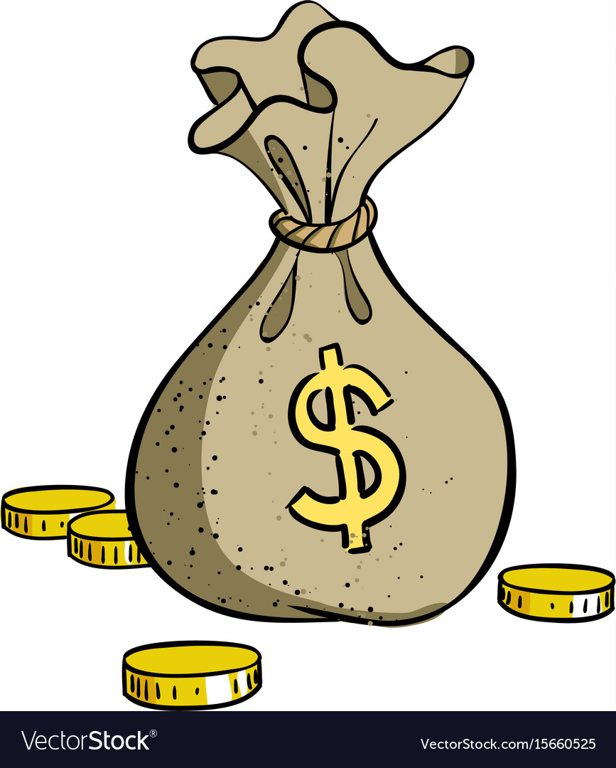 Money Cartoon Images : money, cartoon, images, Cartoon, Image, Money, Symbol, Vector