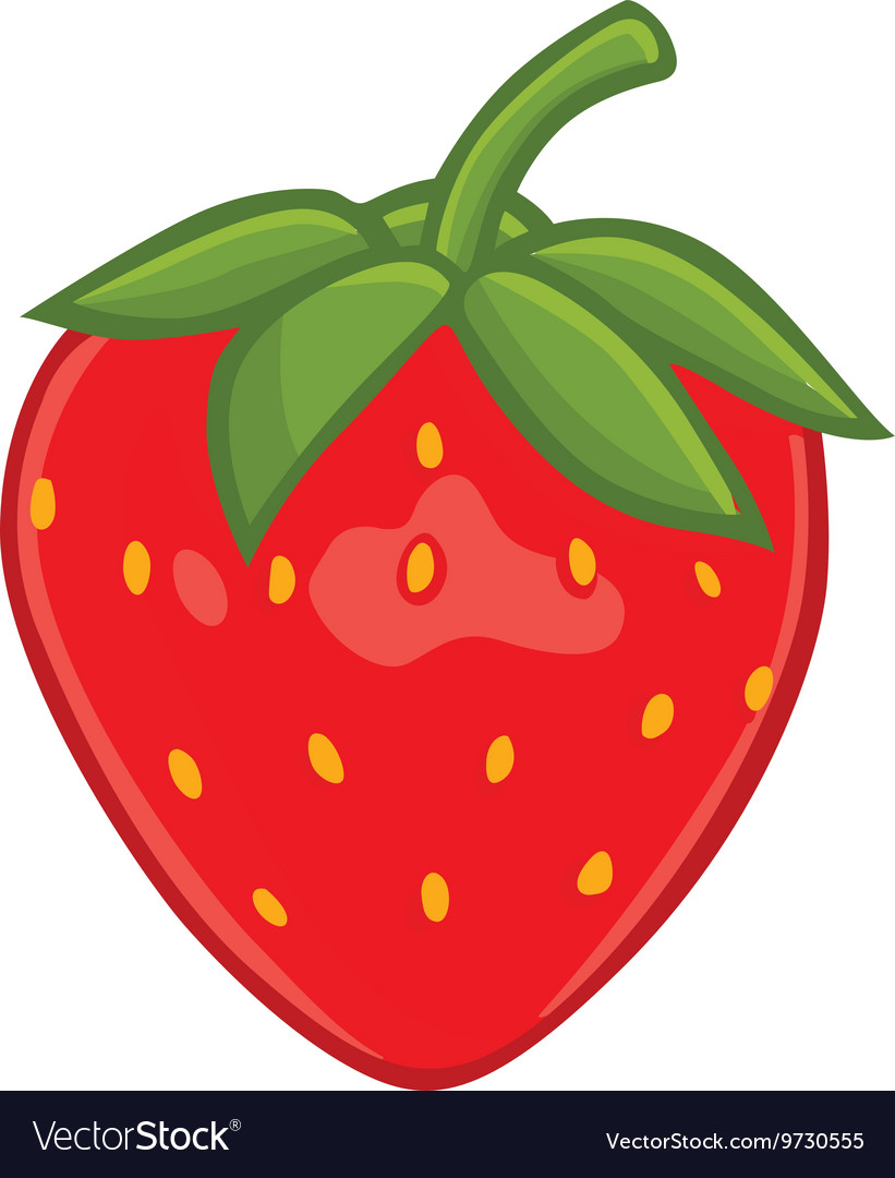 hight resolution of fresh strawberry clipart vector image