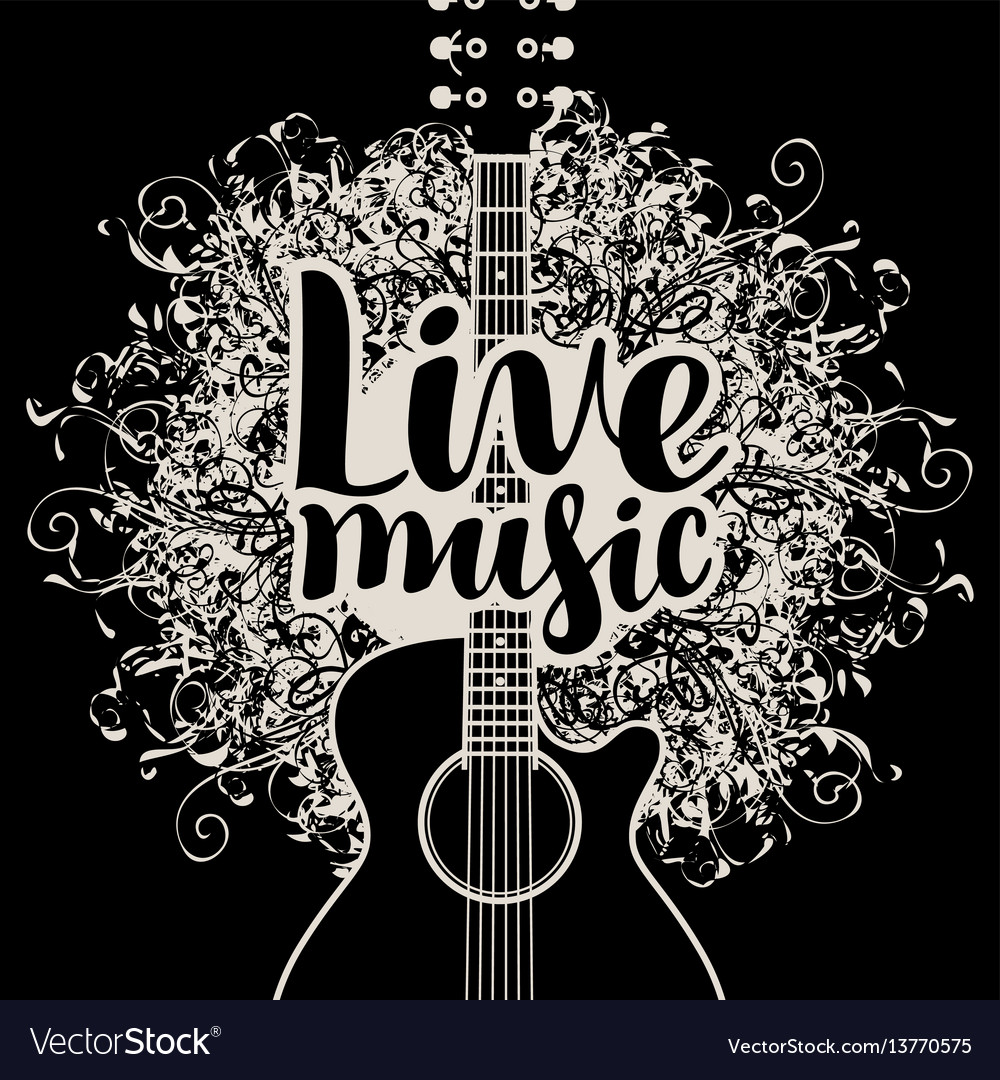 banner live music with