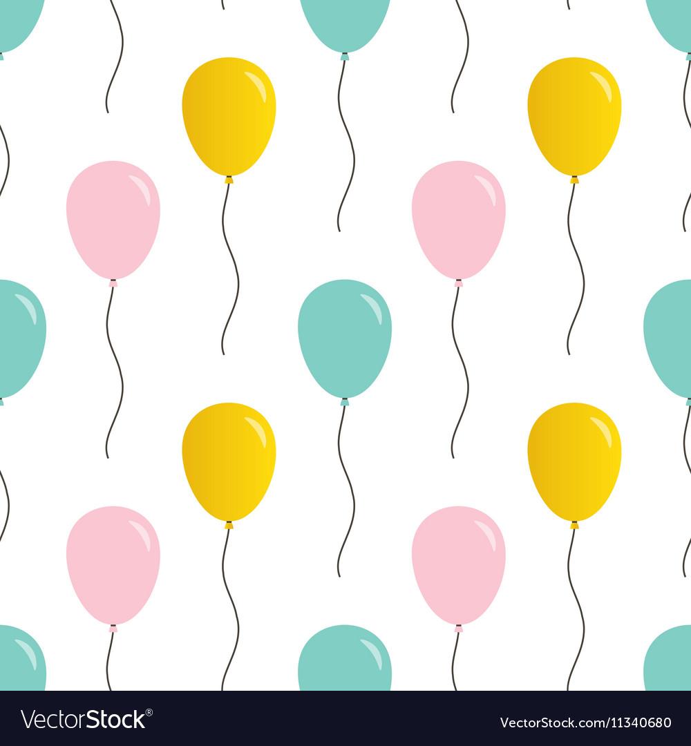 cute balloons seamless pattern