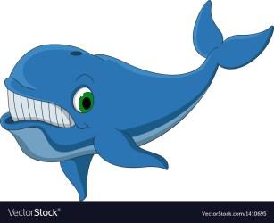 Cartoon Animated Blue Whale