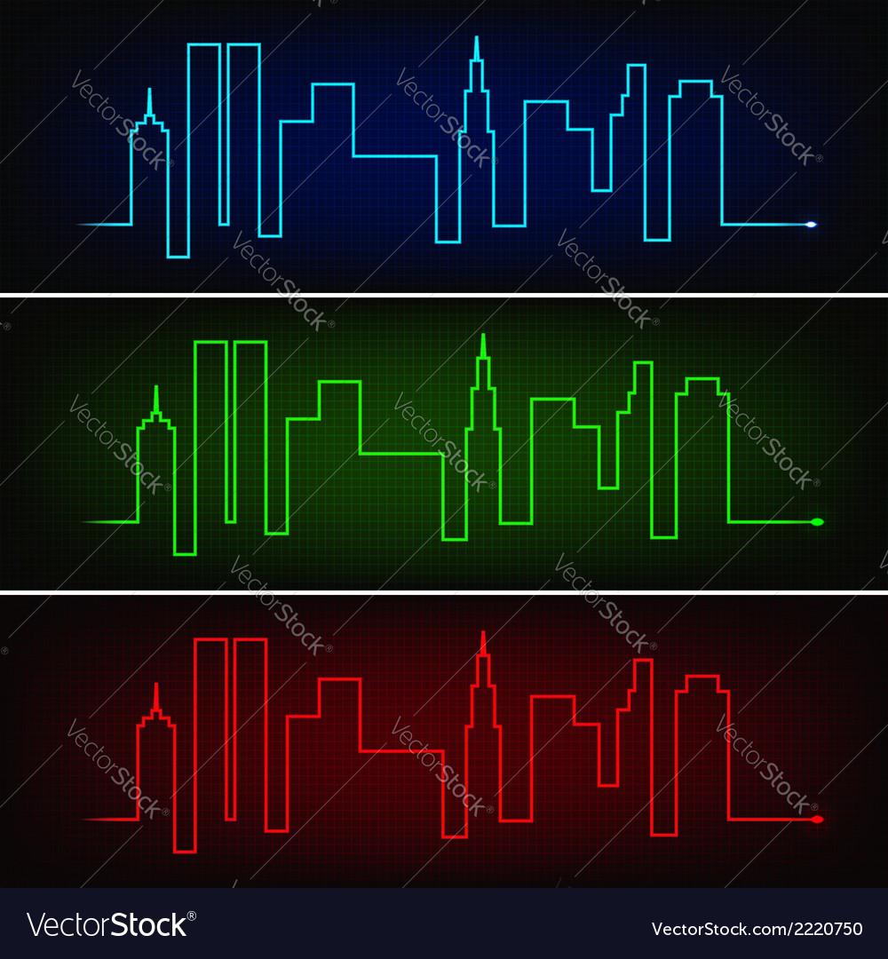 medium resolution of city pulse vector image