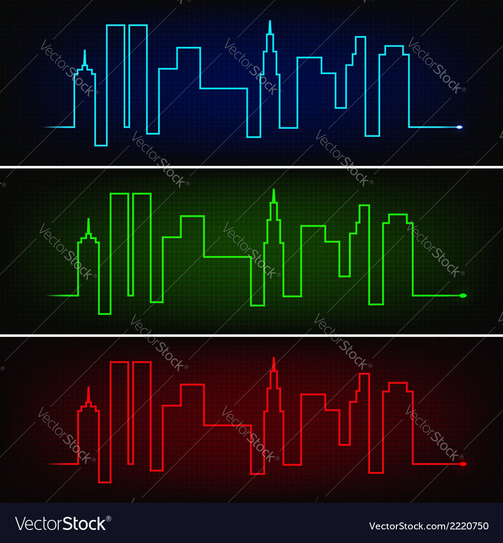 hight resolution of city pulse vector image