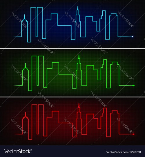 small resolution of city pulse vector image