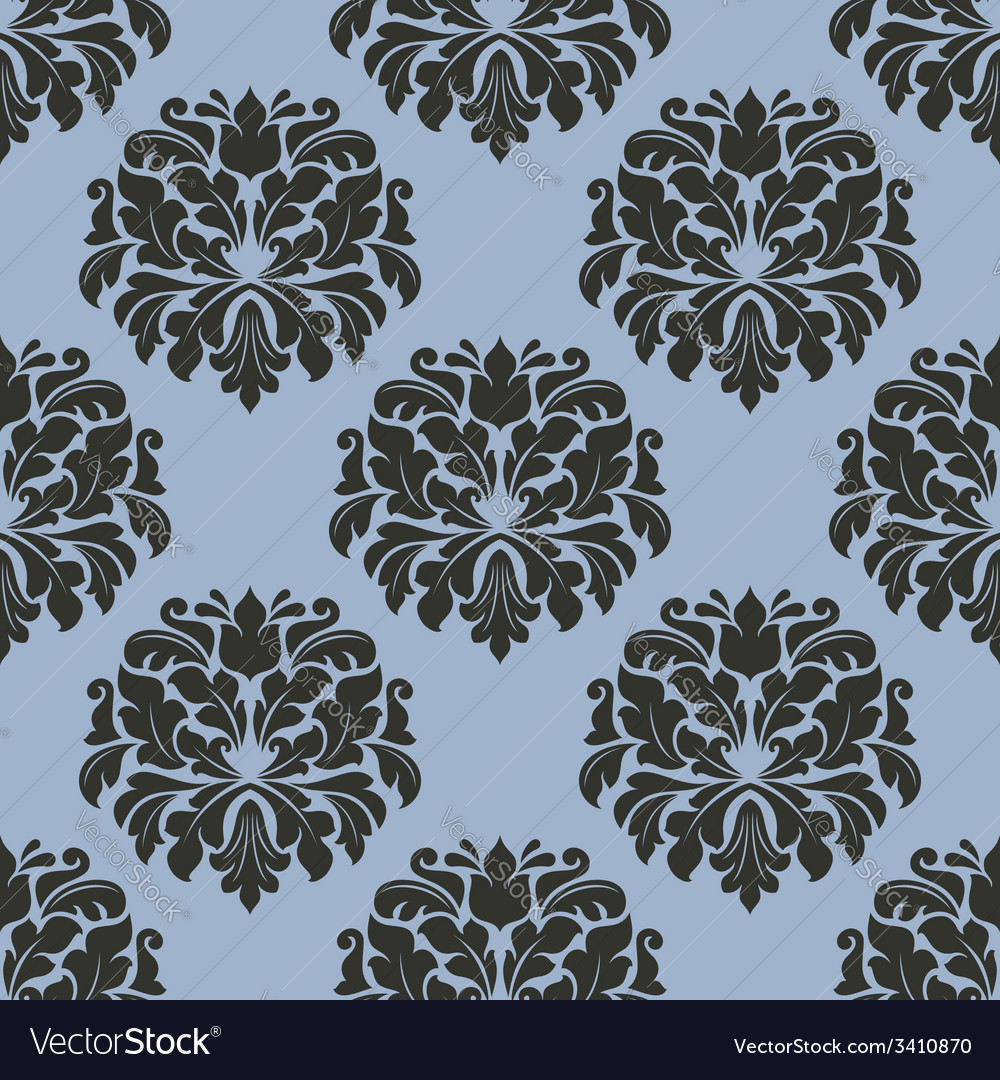 gothic floral seamless pattern