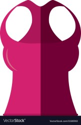 Blouse female fitness isolated icon Royalty Free Vector