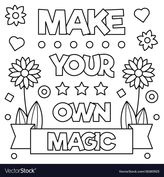 Make your own magic coloring page Royalty Free Vector Image
