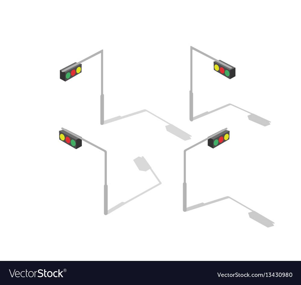 medium resolution of isometric lamp lights vector image