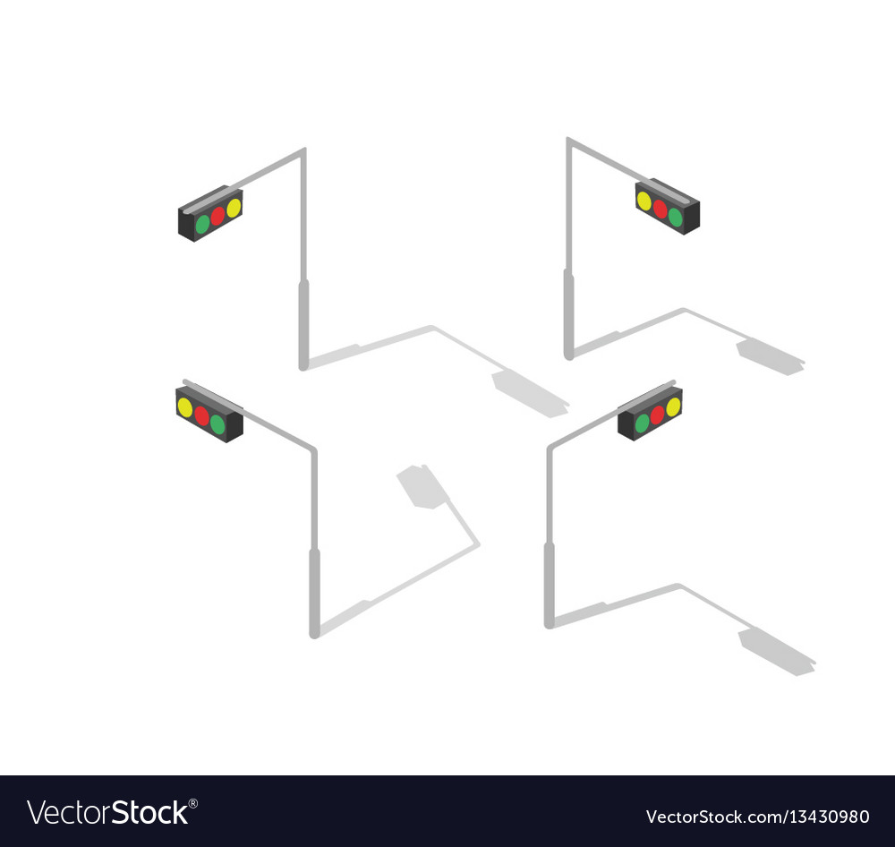 hight resolution of isometric lamp lights vector image