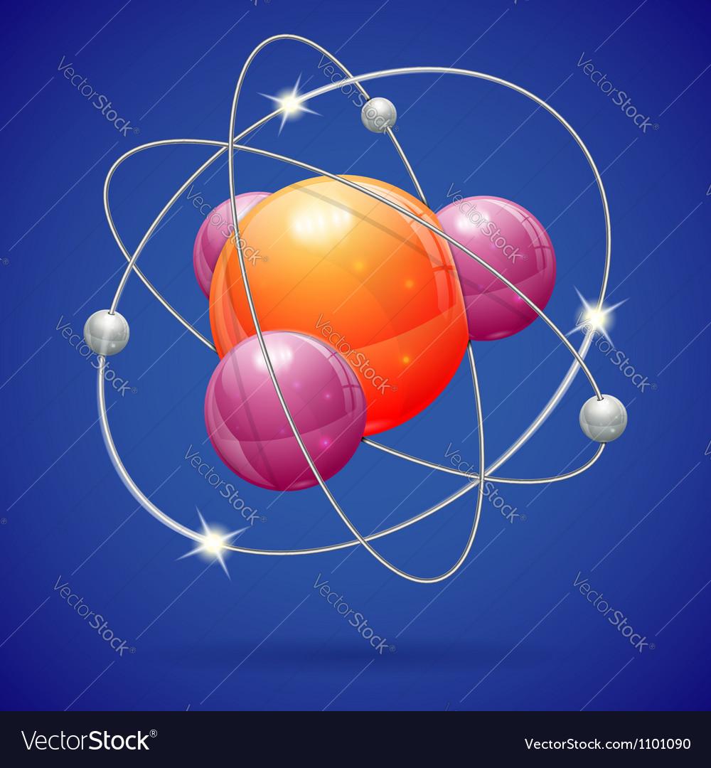 medium resolution of atom model vector image