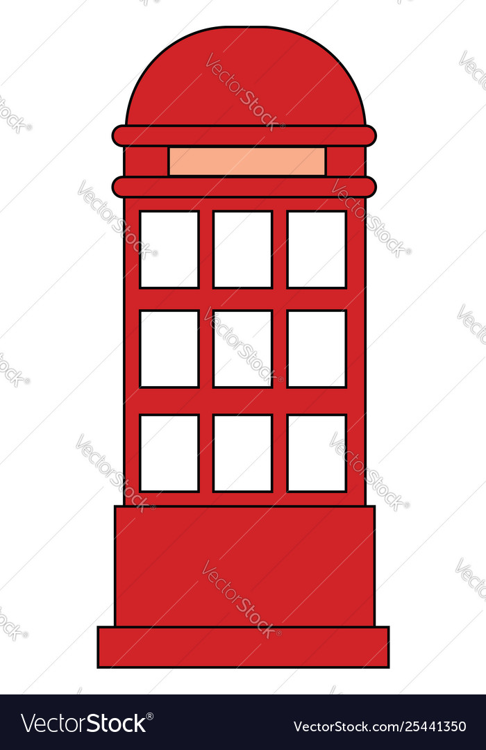 Booth Clipart : booth, clipart, Clipart, Phone, Booth, Isolated, Royalty, Vector