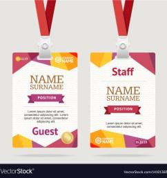 id card template plastic badge vector image [ 1000 x 1005 Pixel ]