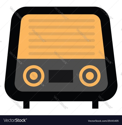 small resolution of clipart radio vintage or color vector image