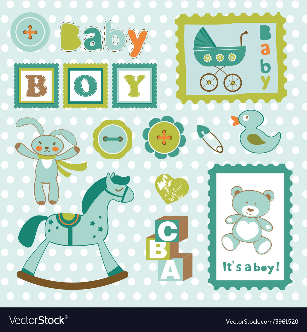 baby boy card stamps