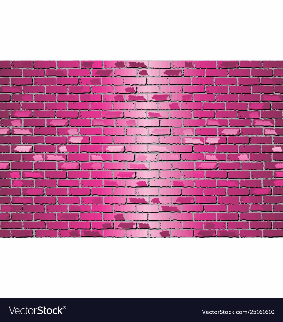 shiny pink brick wall