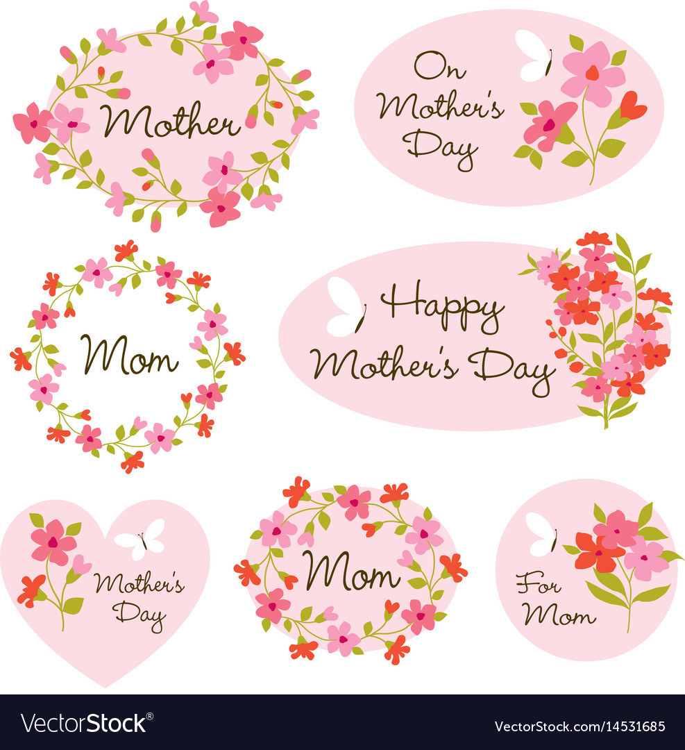 hight resolution of mothers day clipart vector image
