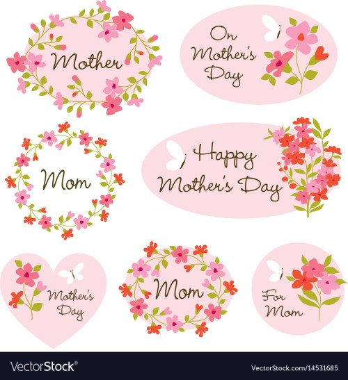 small resolution of mothers day clipart vector image