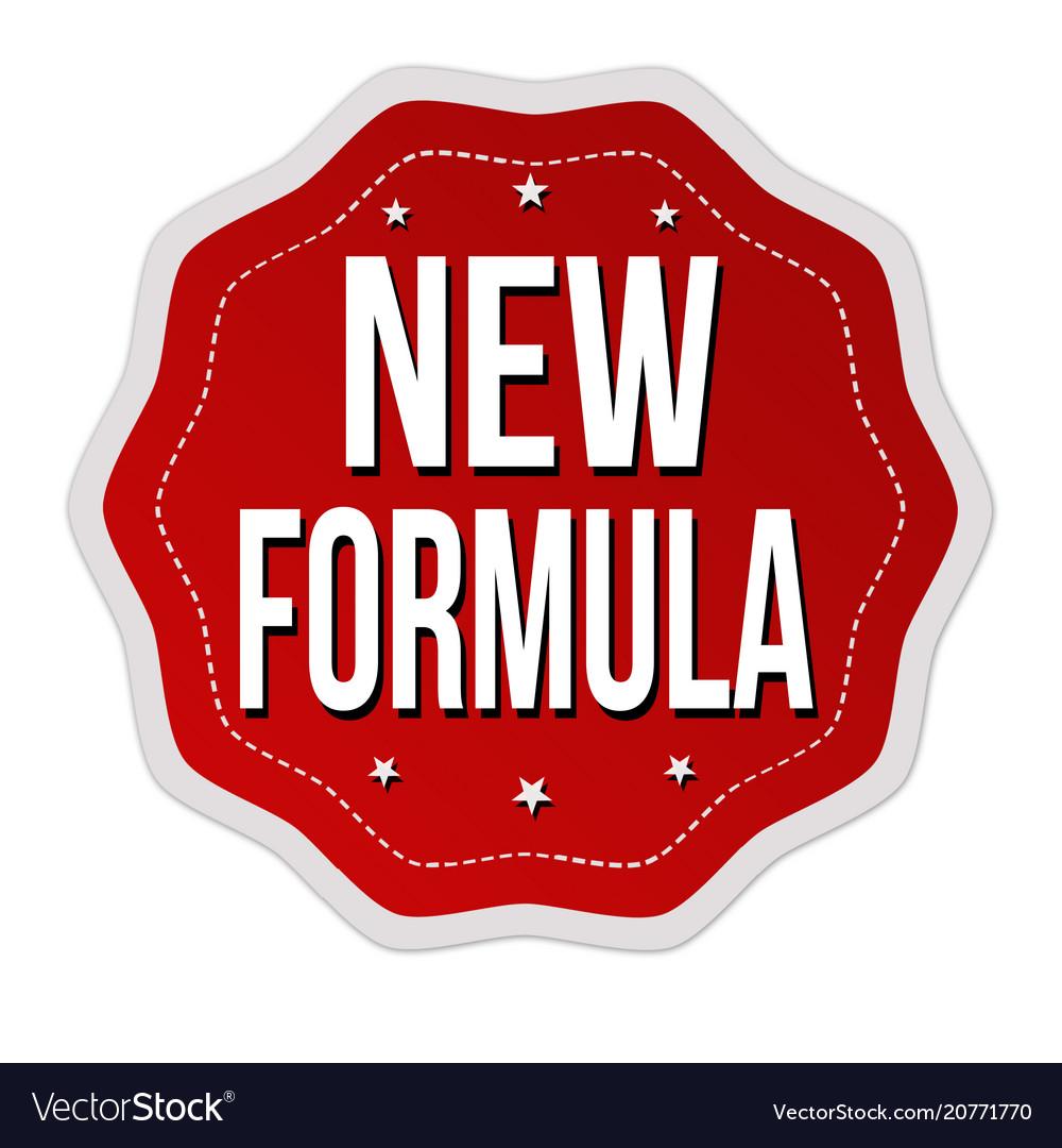 new formula label or
