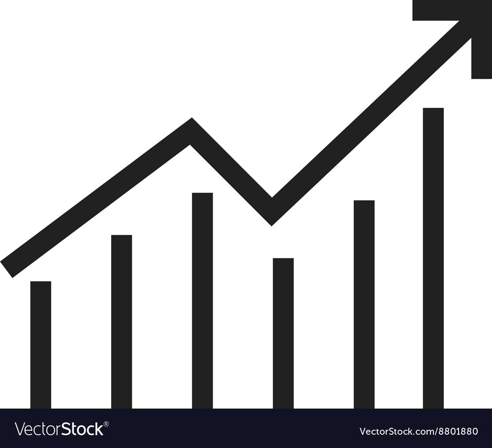 inflation graph vector image