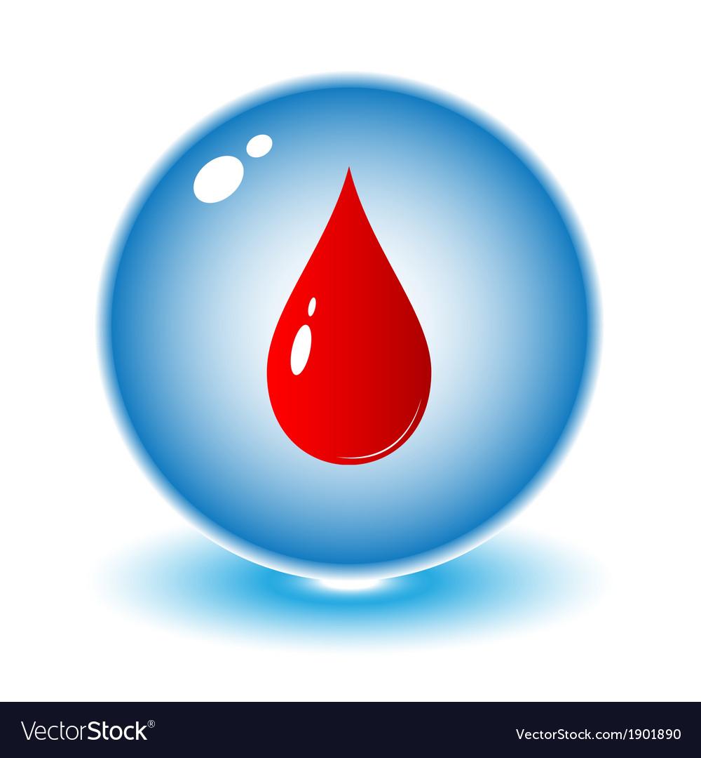 Blood Drop Icon Royalty Free Vector Image Vectorstock