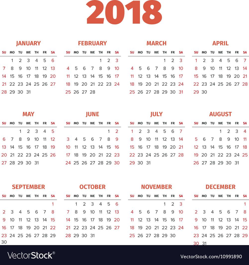 A Year Calender