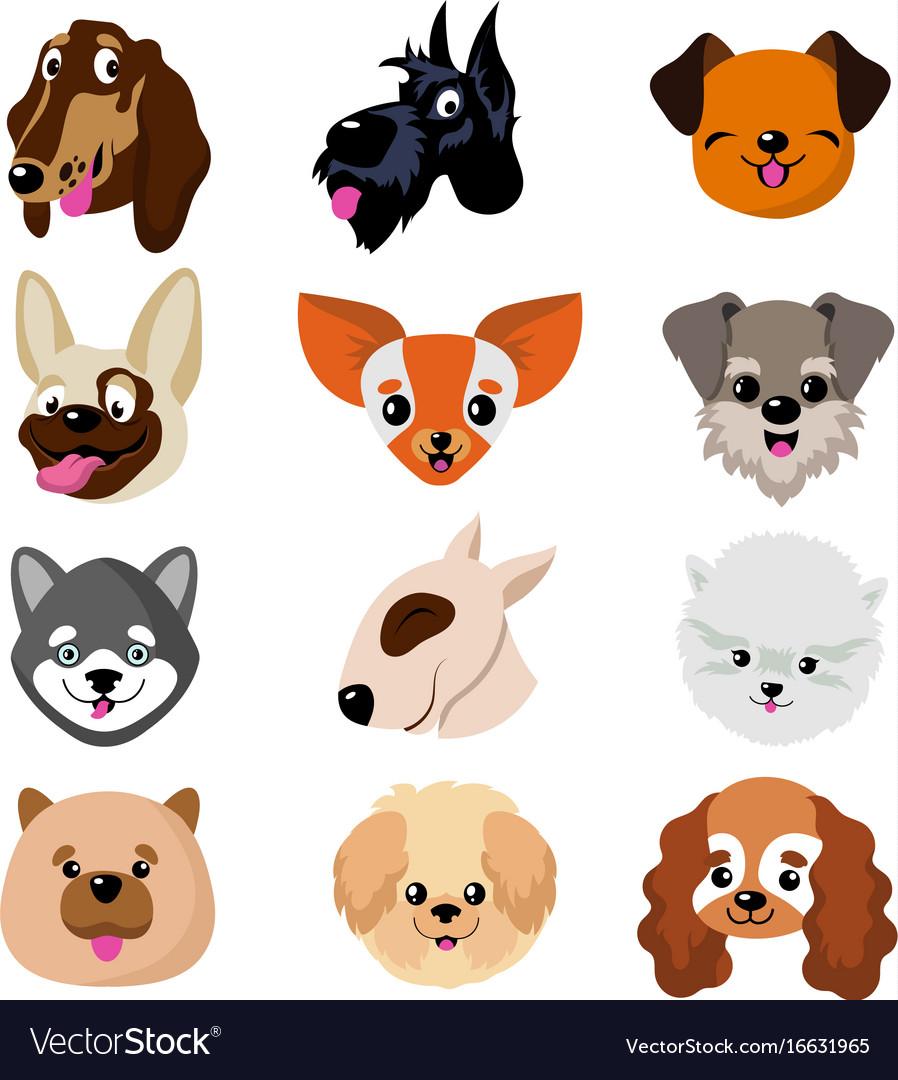 funny cartoon dog faces