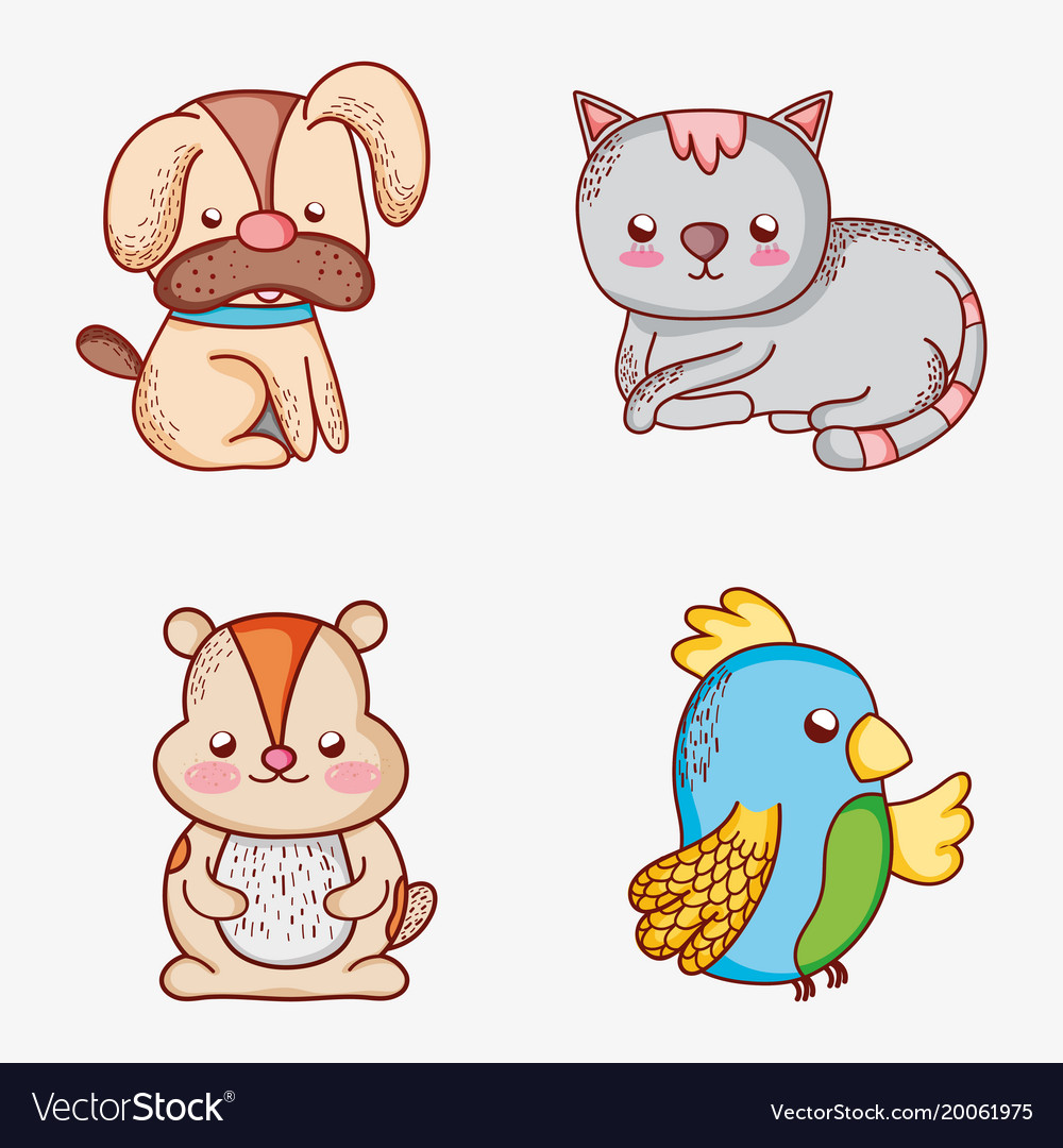 set of pets doodles