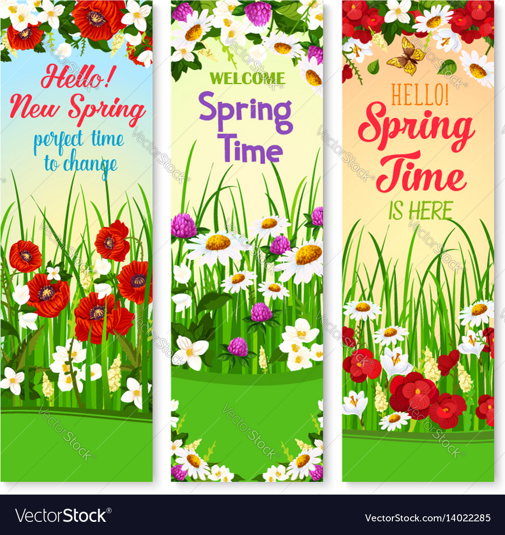 spring wishes banners and