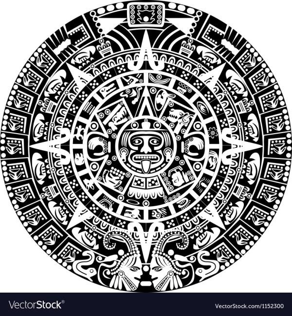 Mayan calendar Royalty Free Vector Image VectorStock