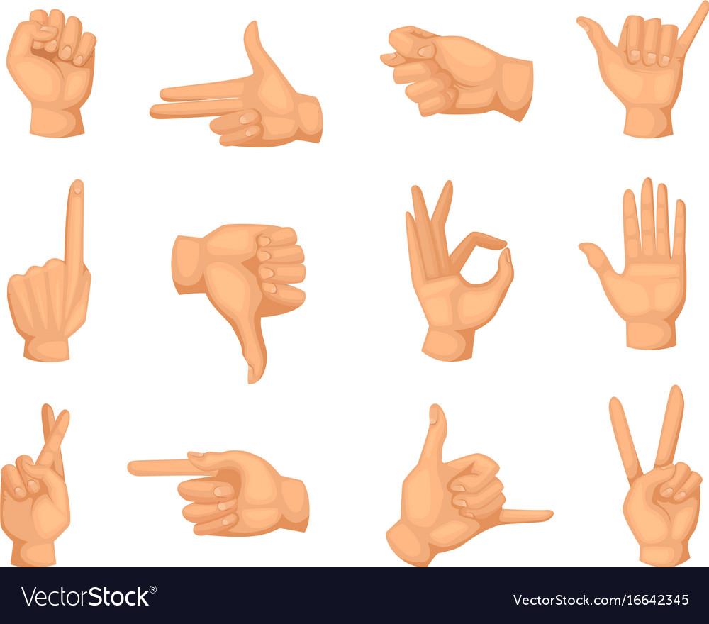 different hands gestures pictures