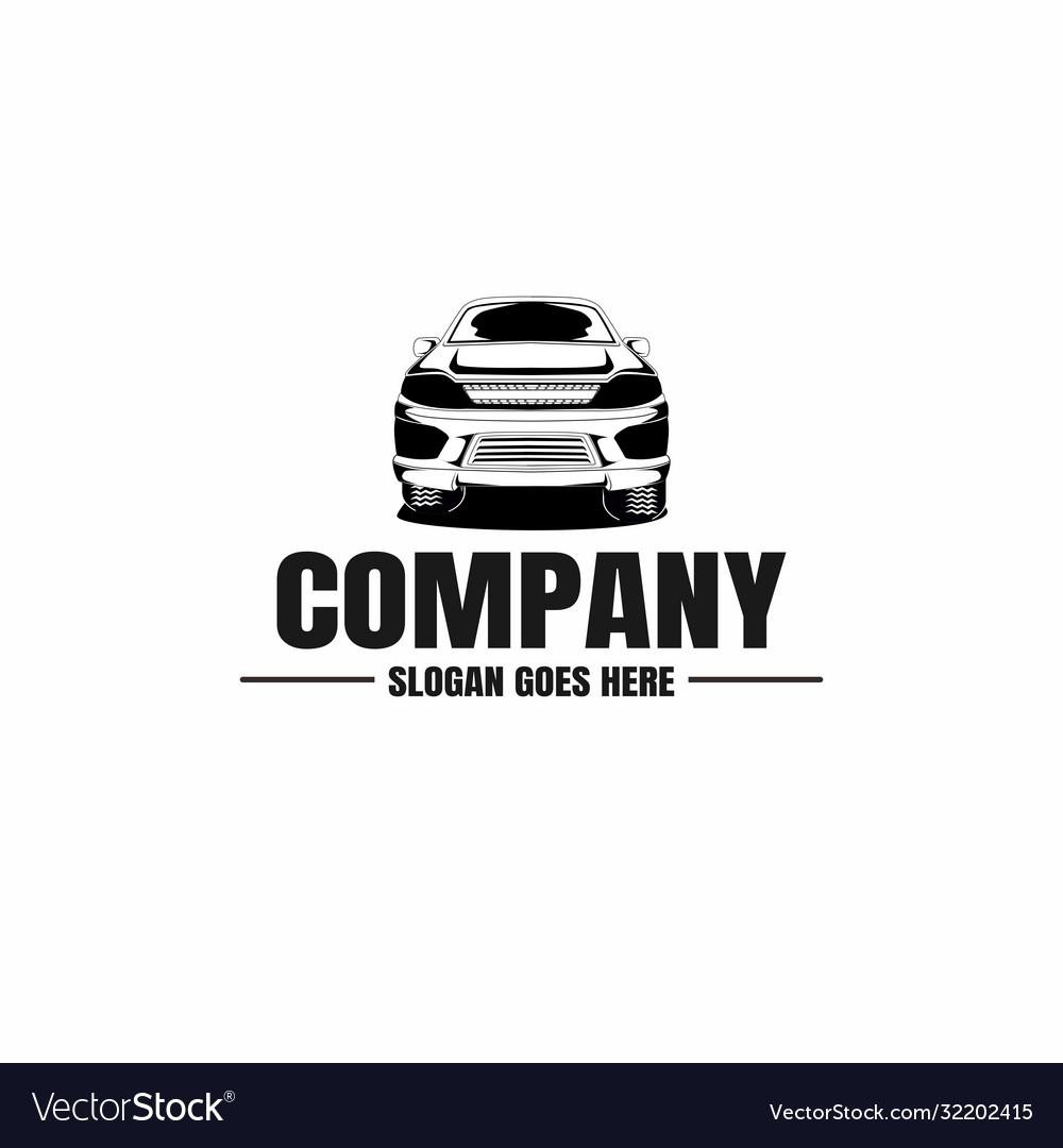 automotive car logo template royalty free vector image