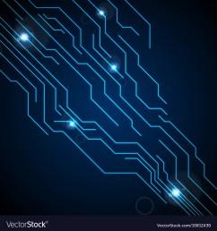 dark blue circuit board technology background vector image [ 999 x 1080 Pixel ]