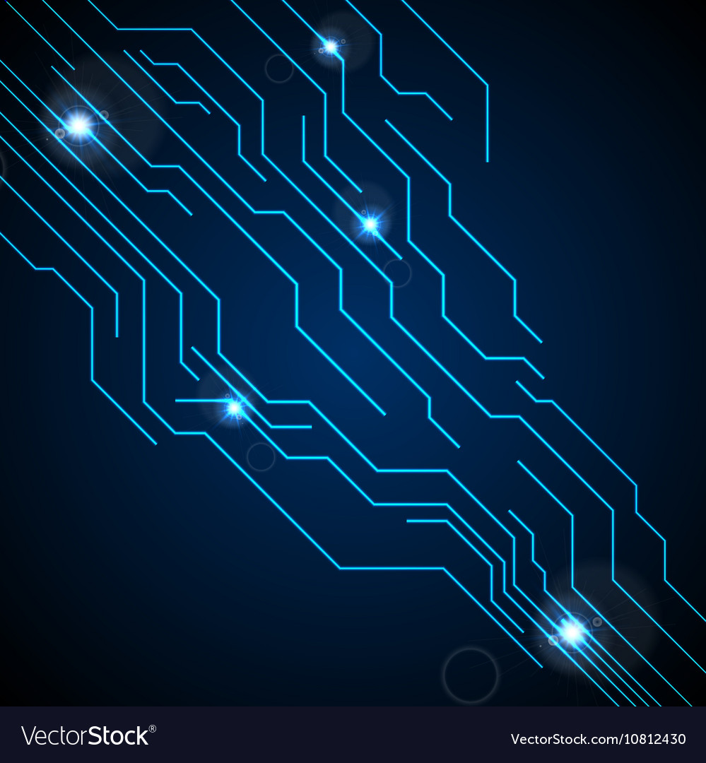 hight resolution of dark blue circuit board technology background vector image
