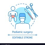 Pediatric Surgery Concept Icon Royalty Free Vector Image