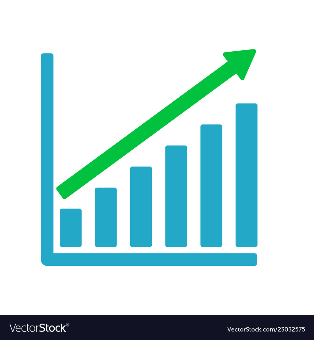 hight resolution of growth graph business chart bar diagram vector image