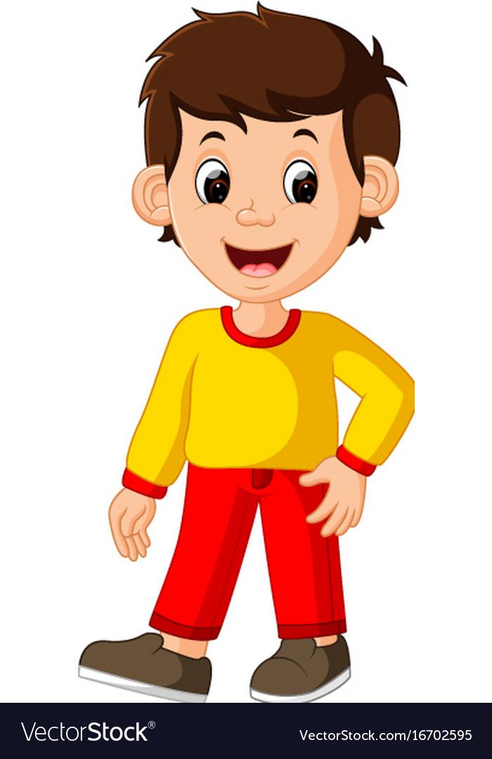 Boy Cartoon Images : cartoon, images, Cartoon, Posing, Royalty, Vector, Image