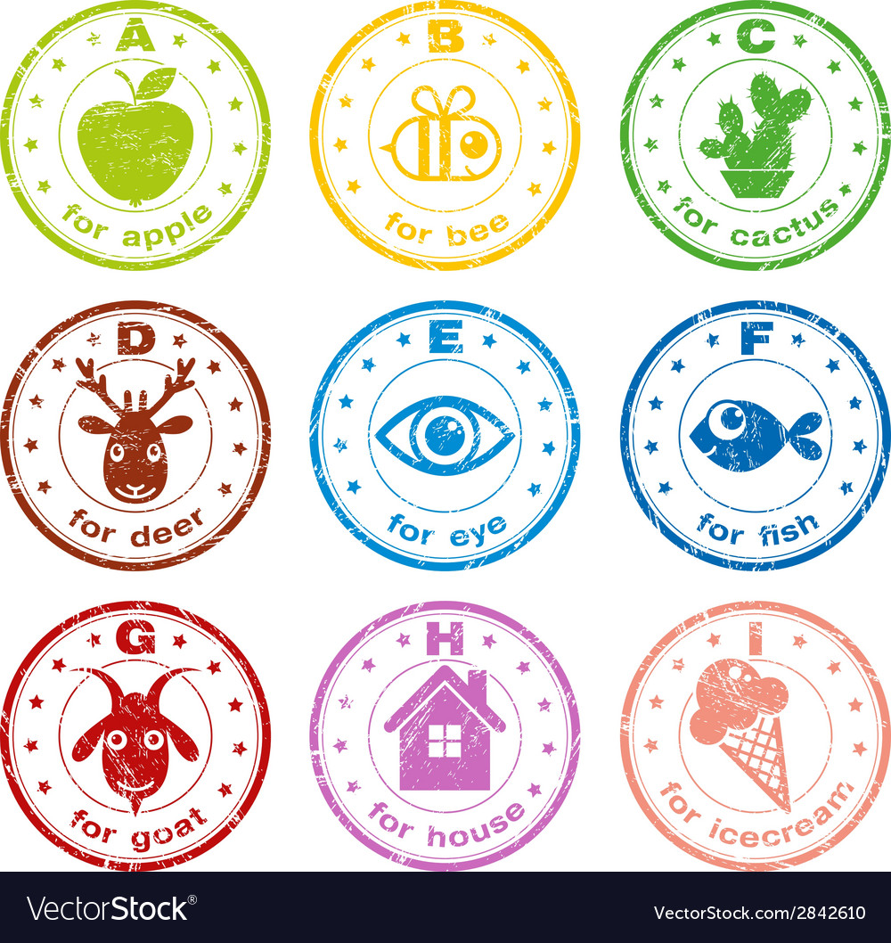 cute abc stamps