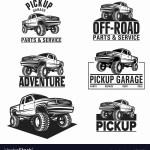 Car Truck 4x4 Pickup Off Road Logo Royalty Free Vector Image