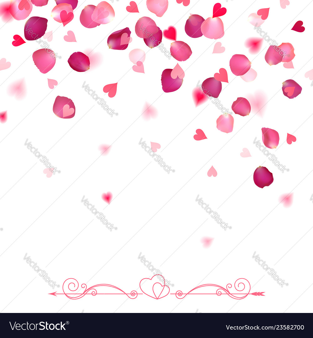 confetti from falling rose