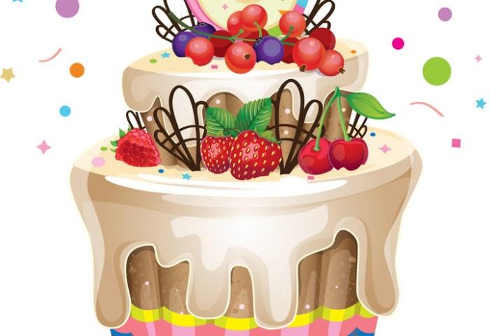 Happy Birthday Cake 6 Royalty Free Vector Image