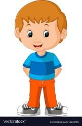 boy cartoon cute vector vectorstock