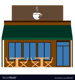 front view of a coffee shop vector image [ 1000 x 1080 Pixel ]
