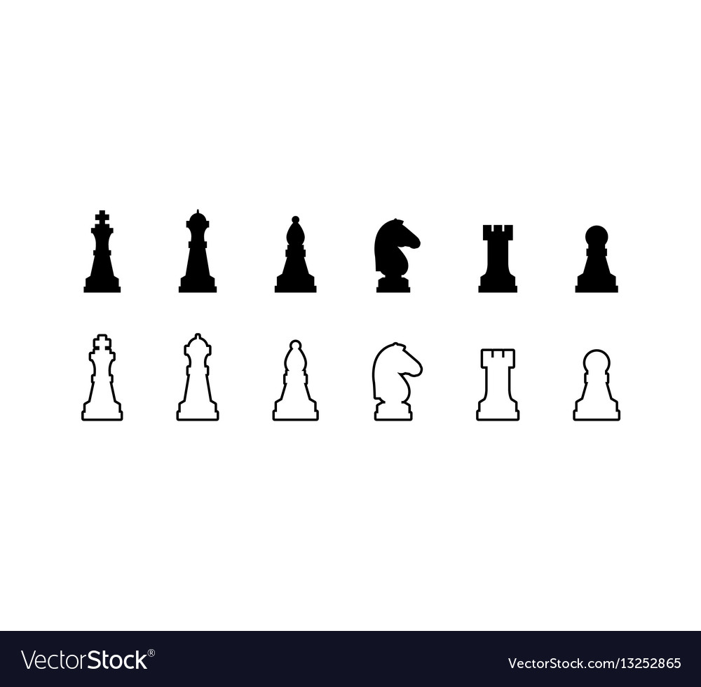 chess pieces black and
