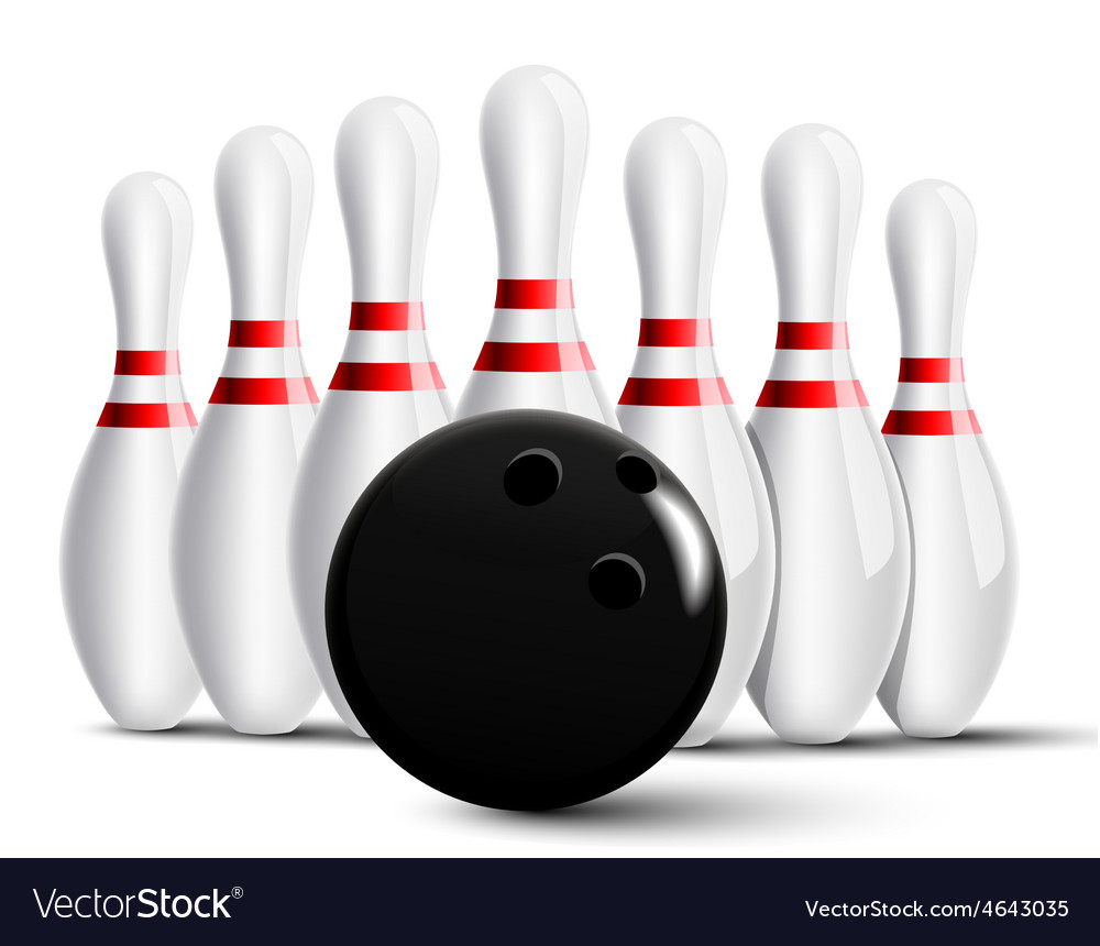 bowling pins and bowling